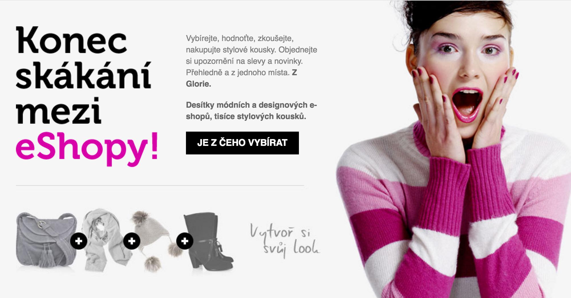 Mé představení startupu Glorie.cz - sociální síť internetového módního nakupování